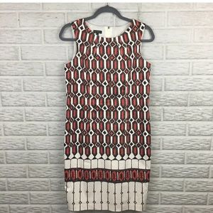 Talbots Women Shift Dress Size 4 Geometric IKAT